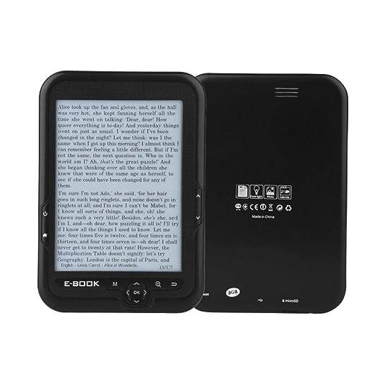 E-Reader, Portátil 6 Pulgadas 800x600 300DPI Lector Libros ...