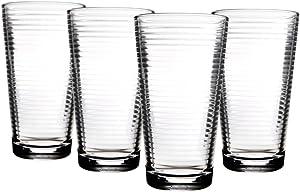 Home Essentials Solar 17oz Cooler Glass, Set of 4