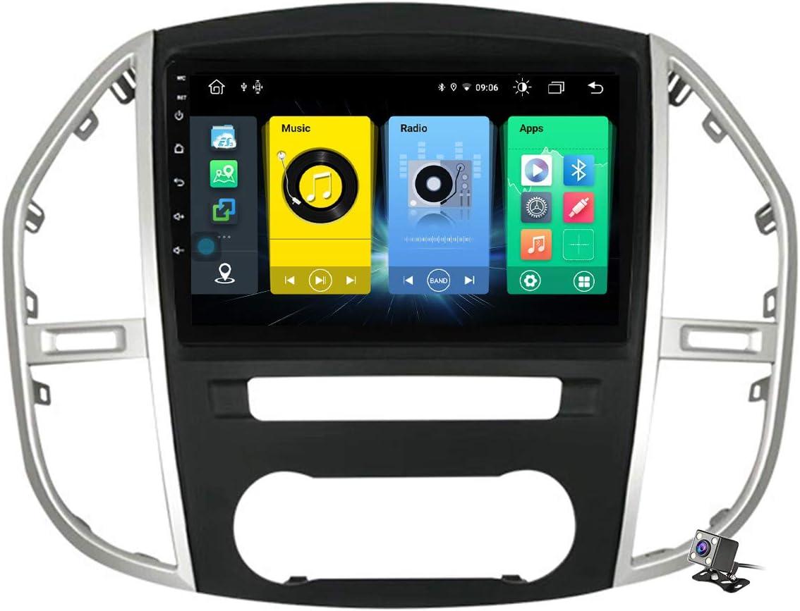 Gokiu Android 10 Car Radio de Navegación GPS para Mercedes Benz Vito 3 W447 2014-2020 con 9 Pulgada Pantalla Táctil Support FM Am RDS DSP/MP5 Player/BT Steering Wheel Control/Carplay