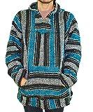 Baja Hoodie~ Original Mexican Deluxe Baja~ Huge Selection of Colors & Sizes!! (Medium, Turquoise)