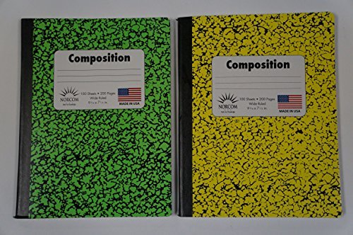 norcom-composition-notebook-bundle-100-sheets-200-pages-wide-ruled-2-notebooks-neon-yellow-and-green