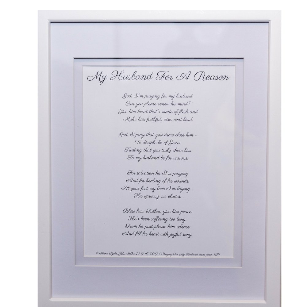 Love Poems about Marriage and Husband by Anna Szabo #PoemsFromGod My Husband for a Reason framed poetry for Prayer Hallway