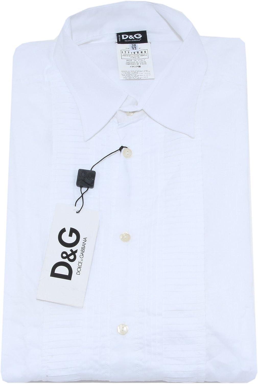 Dolce & Gabbana D&G - Camisa Casual - Para Hombre Blanco Blanco X-Large: Amazon.es: Ropa y accesorios