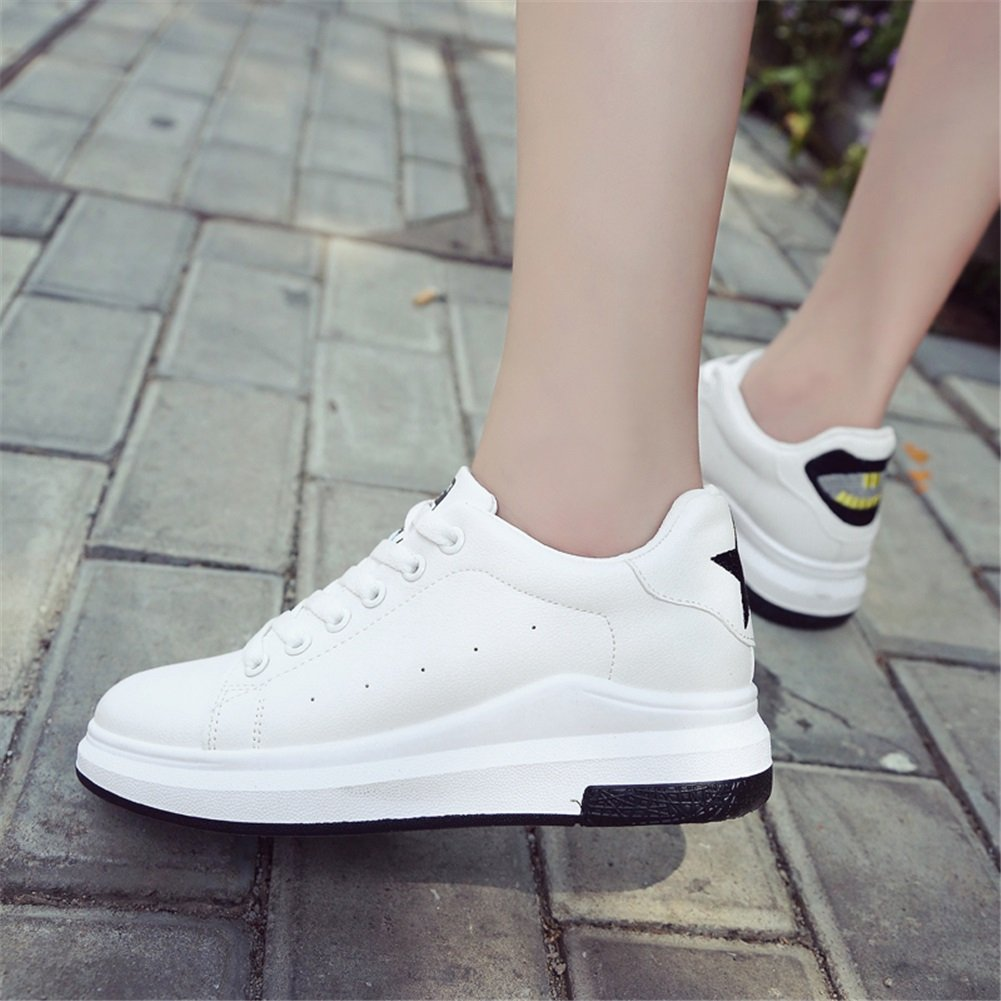 Women's Sneakers,Walking Shoes PU Spring Fall Comfort Light Soles Sneakers,Walking Women's Shoes,Lovers Athletic Shoes,for Shopping, Dating, Running B07FM3C53R Fashion Sneakers 303194