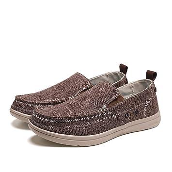 Zapatillas sin Cordones para Hombre con Suela Blanda Zapatillas Antideslizantes durables con Suela Ligera (Color : Marrón, tamaño : EU 39): Amazon.es: Hogar