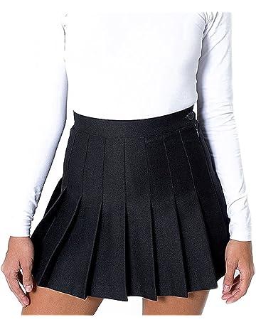 932c2a37c76 Hibote Jupe de Tennis Mini Robe Women Girl Slim Taille Haute plissée