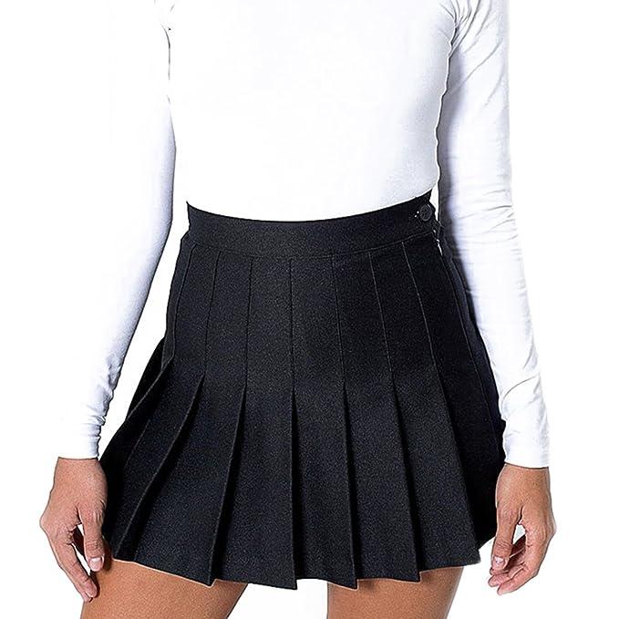 WEIMEITE Falda con Estilo Cintura Alta y Falda Tenis Plisada Mini ...