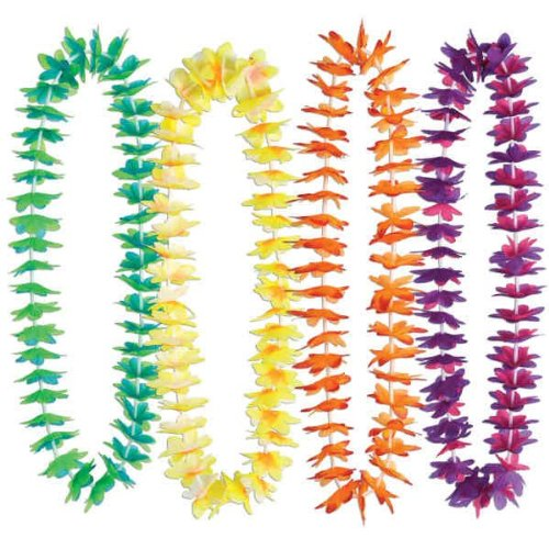 Silk 'N Petals Waikiki Leis (asstd colors) Party Accessory  (1 (Waikiki Halloween)