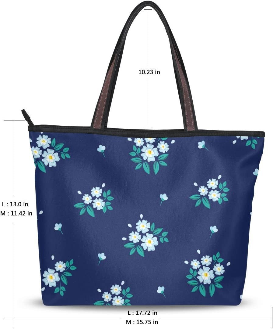 SAHNGLONG Floral Beach Tote Bags Travel Casual Totes Bag Shopping Zippered Tote for Women Foldable Overnight Handbag