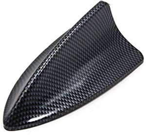AUTUT Universal Decorative Car Antenna Fiber Carbon Pattern Self Adhesive Shark Fin Design