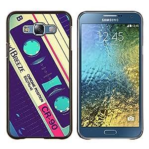 Dragon Case - FOR Samsung Galaxy E7 E7000 - cassette retro music 90's vintage record - Caja protectora de pl??stico duro de la cubierta Dise?¡Ào Slim Fit
