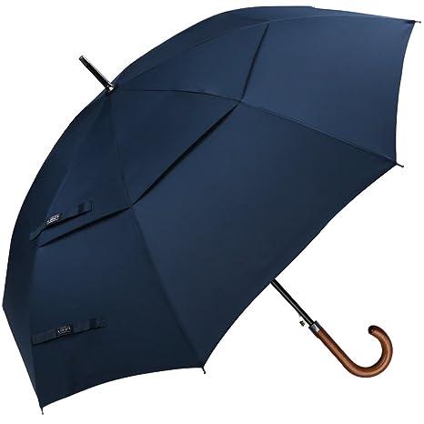 Paraguas clásico G4Free, tamaño grande de 1,27 m,