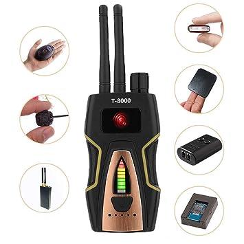 eoqo Detector de Señal RF Detector de GPS Detector Cámaras Ocultas Detector Microfonos Ocultos Detector de Microsensor Buscador de Dispositivos gsm Buscador ...
