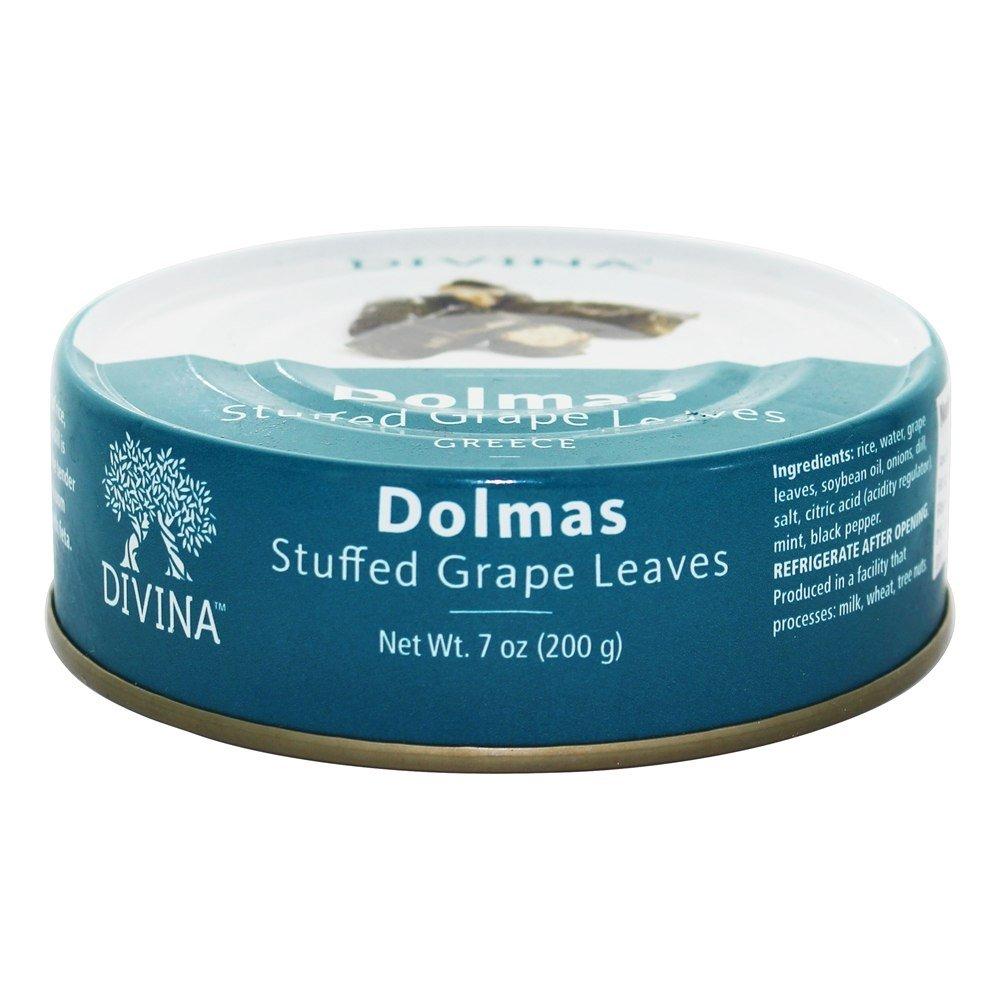 Divina, Stuffed Grape Leaves, Dolmas, 7 oz. (4 pack) by Divina