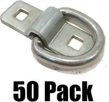 """10 New 3//8/"""" STEEL D RING ROPE TIE DOWNS for Trailer Flatbed Truck Anchor Cargo"""