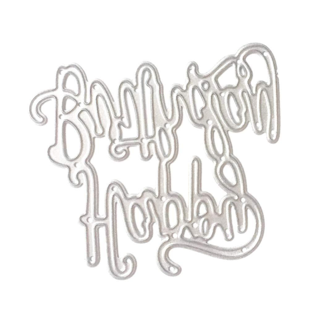 Basteln Dekoration Karten B Scrapbooking Papier Karbonstahl As Shown Album Wuayi Stanzschablone f/ür Bastelarbeiten