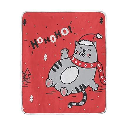 e8abf2c0ffd0 Amazon.com: Lilibeely Ultra Soft Microplush Velvet Fat Cat Christmas ...