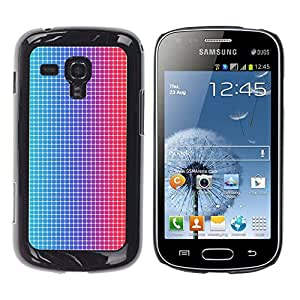 Stuss Case / Funda Carcasa protectora - Disco Dots Illusion Fabric Pattern Blue Red Led - Samsung Galaxy S Duos S7562