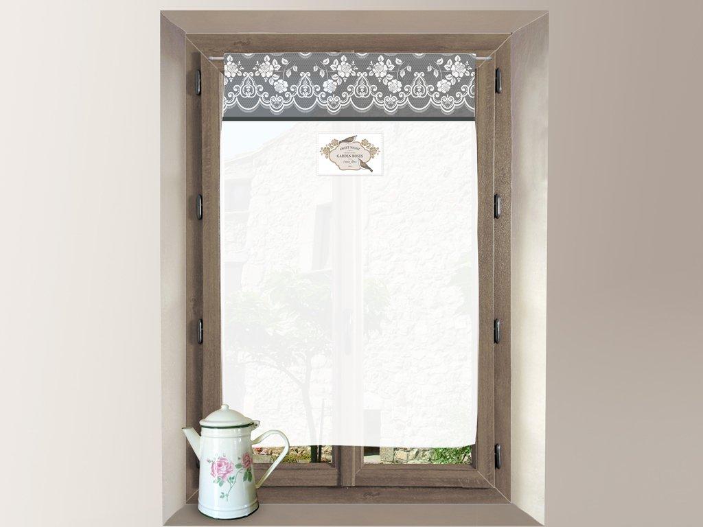 Soleil d'ocre Tendina a vetro in cotone 60x90 cm GARDEN rosa SELARTEX 043735