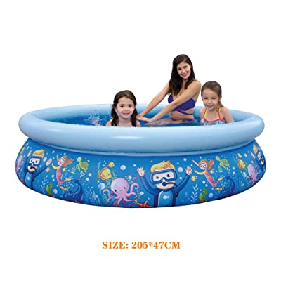 "2020 Summer Water Sports Baby Kids Inflatable Swimming Pool PVC Portable Swim Family Play Pool Children Bath Tub Children Toys, 80"" X 18.5"": Sports & Outdoors"