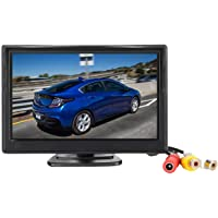 Padarsey 5 Inch TFT LCD Car Color Rear View Monitor Screen for Parking Rear View Backup Camera with 2 Optional Bracket…