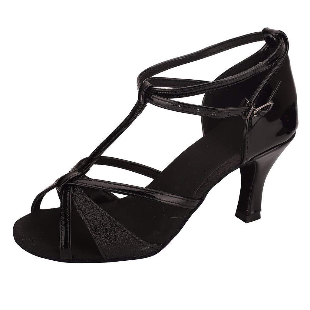TEELONG High Heels Slip On Womens Waltz Modern Dance Shoes Ballroom Latin Dance Sling Back Dress Court Soft Bottom Sandals