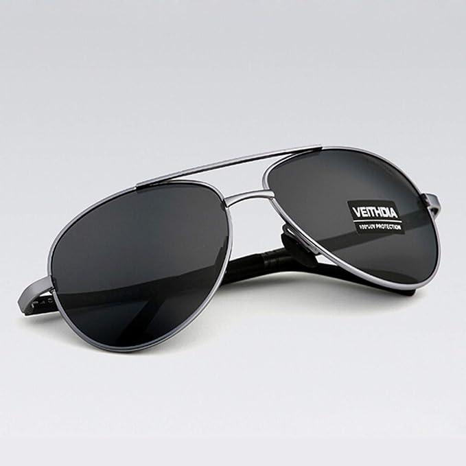 af322a8c9 JEWHMen's Sunglasses Brand Designer Pilot Polarized Male Sun Glasses ...