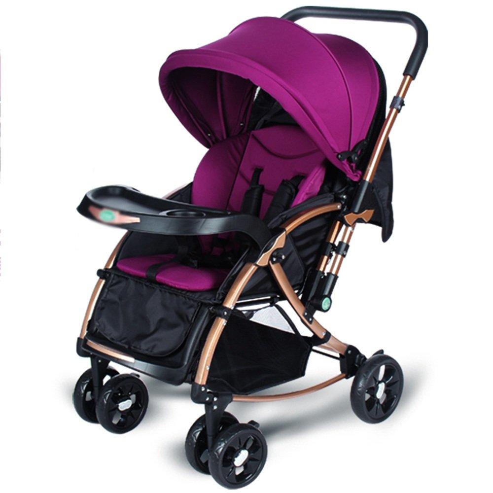HAIZHEN マウンテンバイク 新生児用ベビーカー軽量折りたたみ式のプッシュチェア 新生児 B07C6WS97Gパープル ぱ゜ぷる