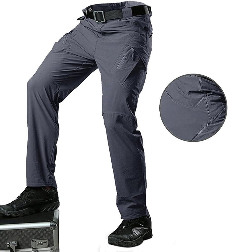 ad asciugatura rapida Tacvasen con tasche con cerniera Pantaloni militari impermeabili da uomo