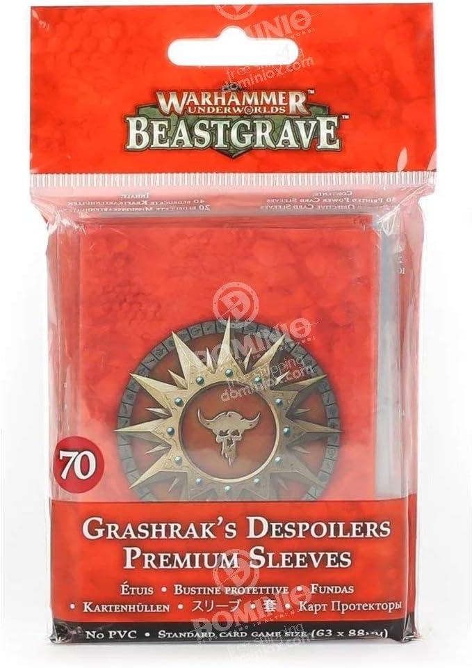 Games Workshop Warhammer Underworlds Beastgrave Grashraks Despoilers Premium Sleeves