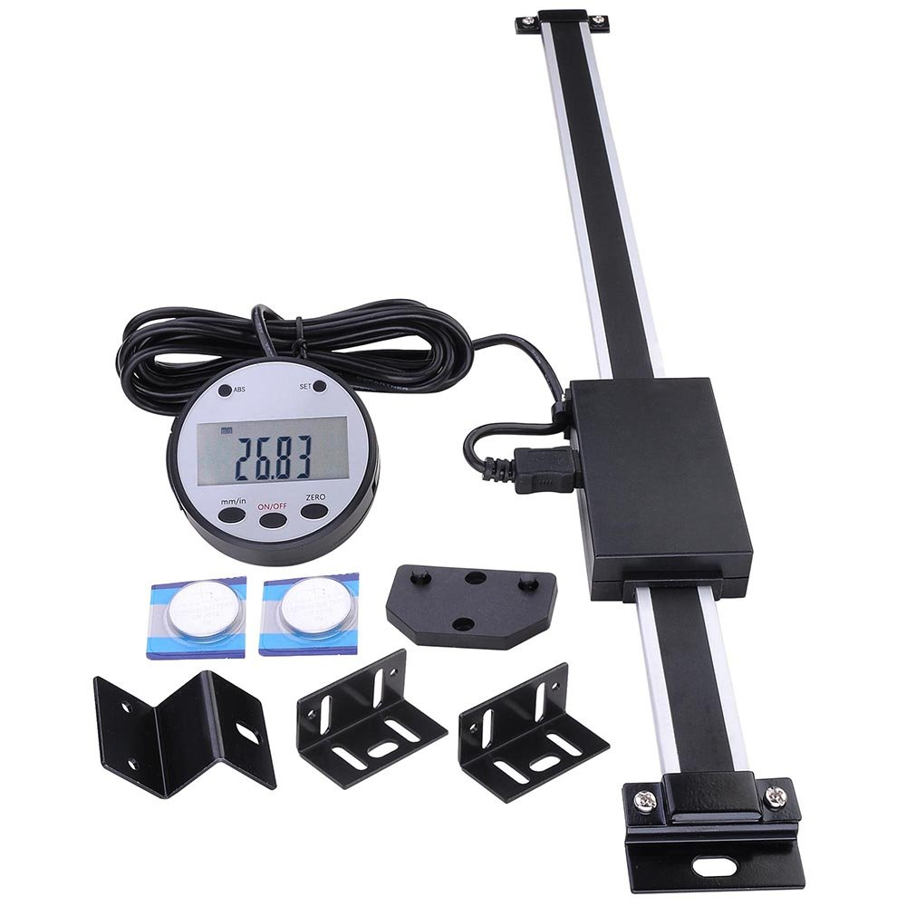 Yescom 12'' Remote Digital DRO Table Readout Scale for Bridgeport Mill Lathe Linear Magnetic