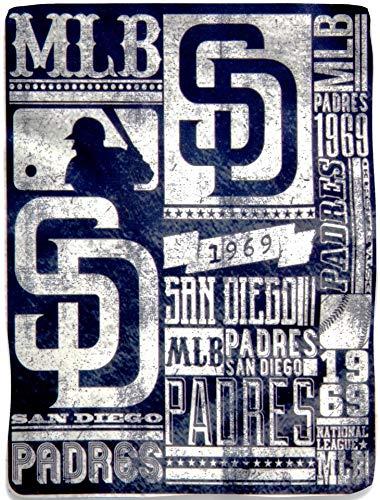 SLS FANMats San Diego Padres Strength 50x60 Large Lightweight Fleece Throw Blanket Baseball
