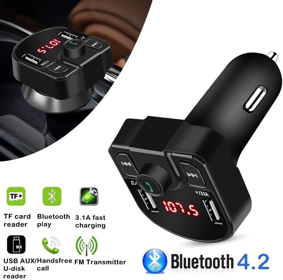 Bluetooth Wireless 3.5mm Aux Port USB SD Card Car Stereo Radio FM Transmitter