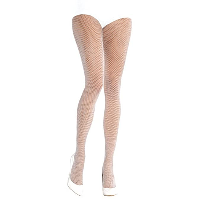 82bf86d521597 Amazon.com: Adults White Fancy Dress Costume Accessory Fishnet Stocking  Tights(Standard): Clothing