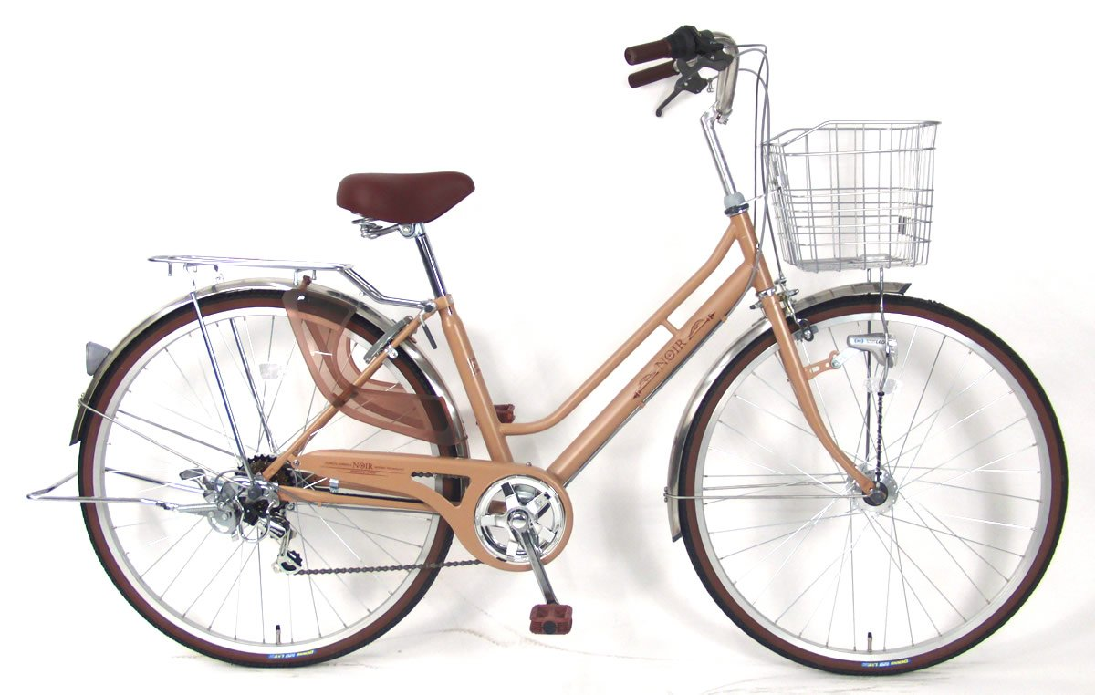 C.Dream(シードリーム) ノアールW NW76-H 27インチ自転車 シティサイクル ベージュ 6段変速 100%組立済み発送 B078TYYRW5