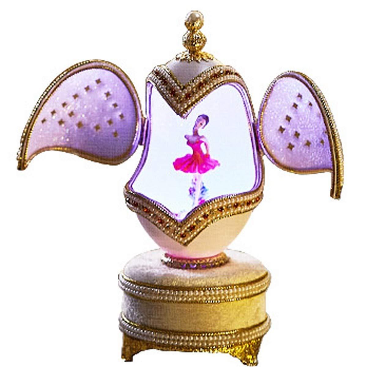 MENGYANLI Balletto Ragazza Danza Uovo Intaglio Carillon Music Box Creativo invia fidanzate Fidanzata Femminile childr