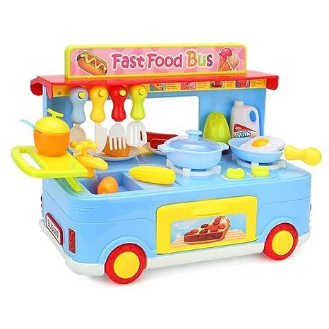 amazon com newisland kitchen playset 29 pieces cooking toys analog