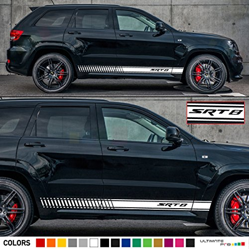 Set of Sport Side Stripes Decal Sticker Vinyl Compatible with Jeep Grand Cherokee WK2 SRT8 Pentastar Hemi (Grand Cherokee Srt8 Rims compare prices)