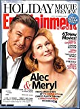 Entertainment Weekly November 13 2009 Alec Baldwin & Meryl Streep/It's Complicated on Cover, Heath Ledger's Last Film, Sherlock Holmes Q&A with Robert Downey Jr & Guy Ritchie, Sandra Bullock, Robin Wright, Penelope Cruz/Nine Q&A, The Prisoner Remake