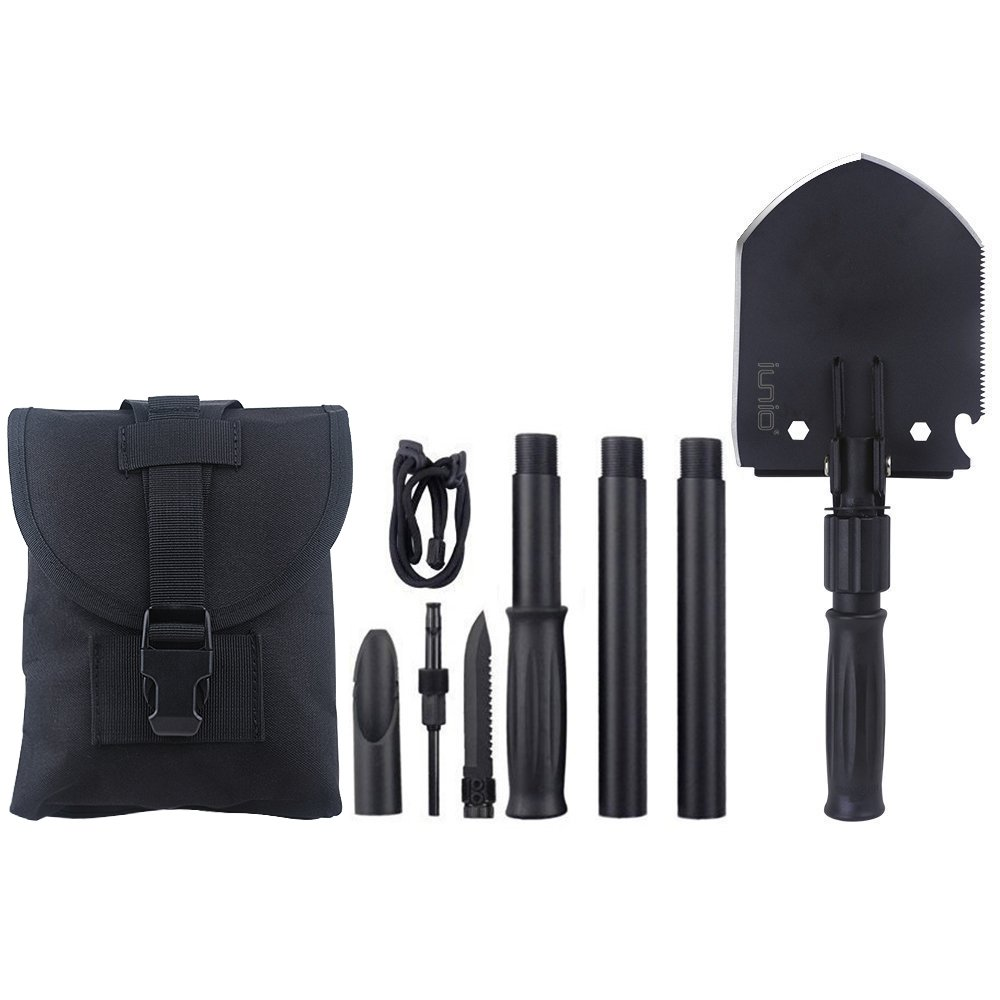 Iunio Military Portable Folding Shovel and Pickax