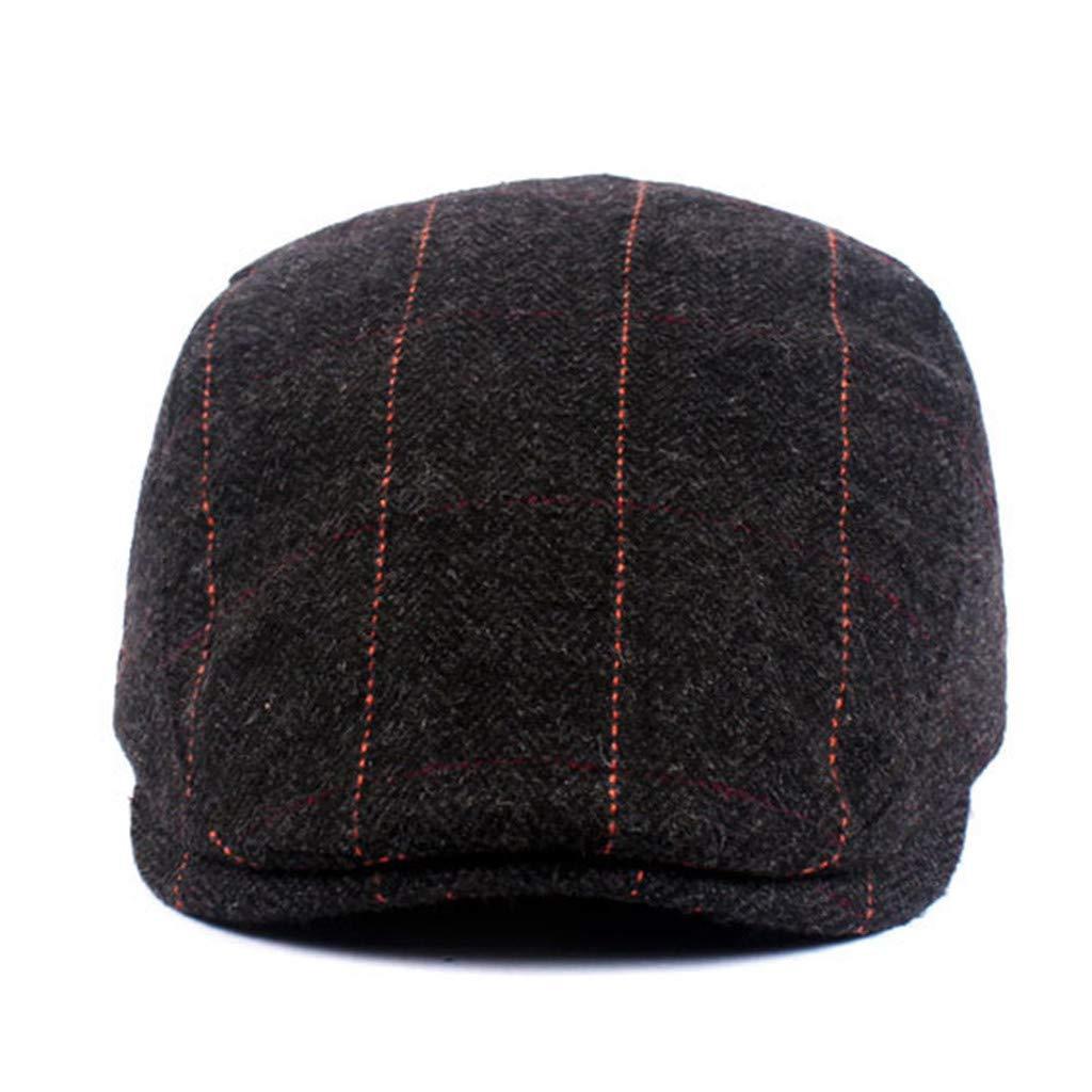 YEZIJIN Black Grey Herringbone Newsboy Baker Boy Tweed Flat Cap Mens Gatsby Hat Straw hat Summer Best 2019 New
