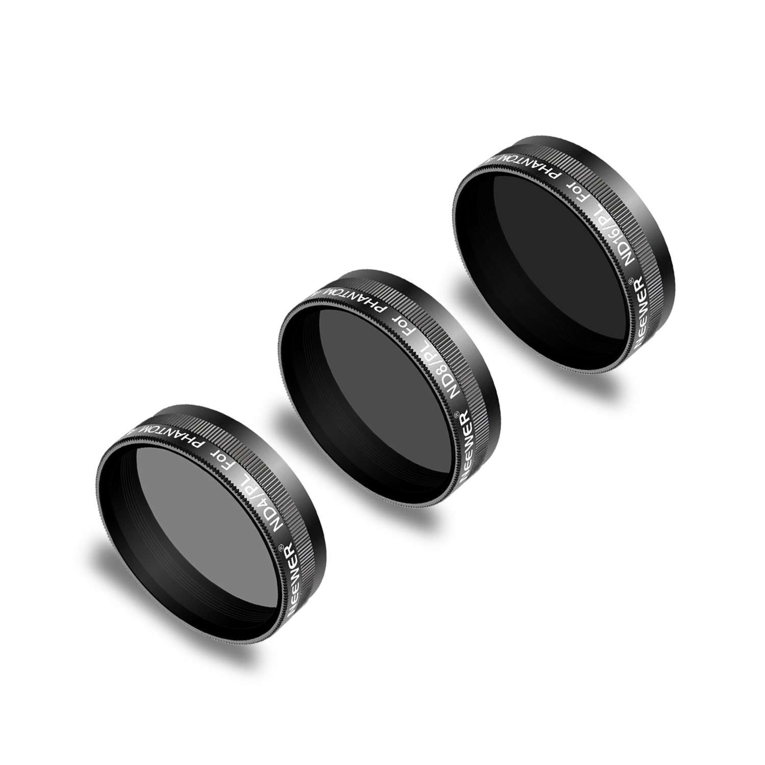 Neewer 3 Pieces Lens Filter Kit for DJI Phantom 4 Pro Drone Quadcopter Includes: ND4/PL, ND8/PL, ND16/PL, Made of Multi Coated Optical Glass Waterproof Aluminum Alloy Frame (Black) by Neewer