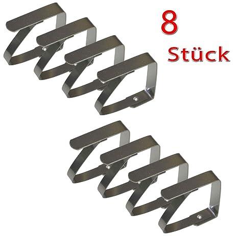all-around24® 8 Pinzas para Sujetar manteles de Acero Inoxidable