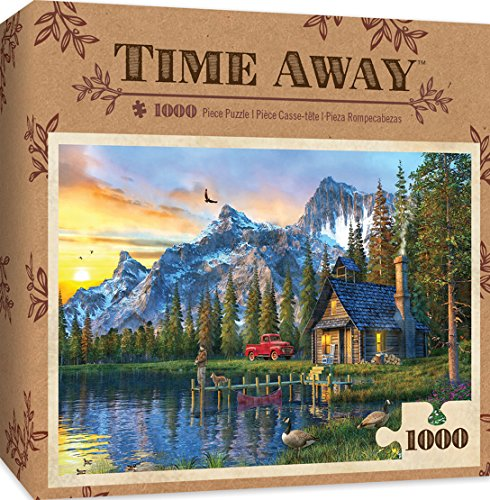 MasterPieces Time Away Living the Dream - Log Cabin 1000 Piece Jigsaw Puzzle by Dominic ()