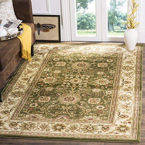 Safavieh Lyndhurst Collection LNH212C Traditional Oriental Sage and Ivory Square Area Rug (6' Square)