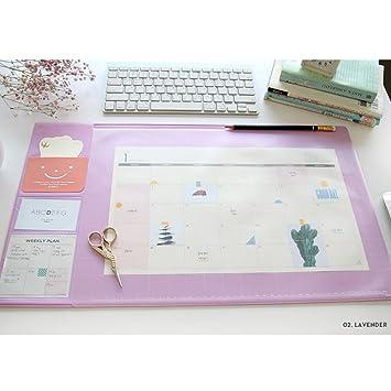 2018 alfombrilla de escritorio planificador [lavanda] (L ...