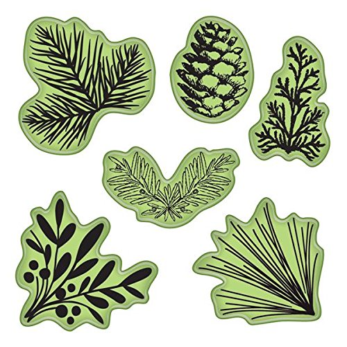 Inkadinkado Stamping Gear Cling Stamps, Pinecones and Evergreen Pine Rubber Stamp