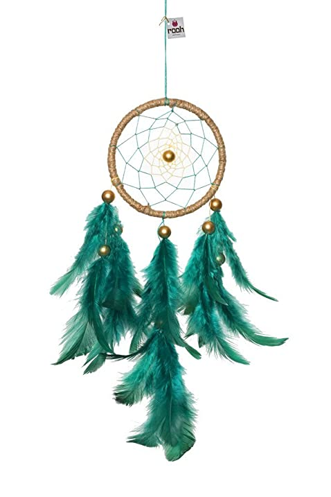 Rooh dream catcher green jutehandmade hangings for positivity used as home décor