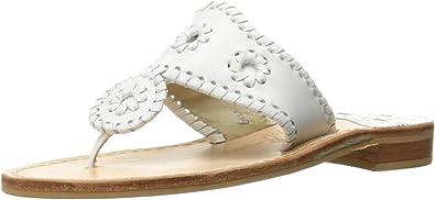 Jack Rogers Hamptons Palm Beach Navajo Women/'s Sandals Black New With Box!