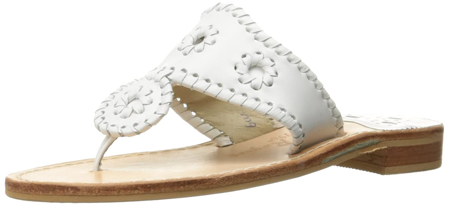 Jack Rogers Women's Palm Beach Wide Dress Sandal B00JBK3L7E 10 W US|White